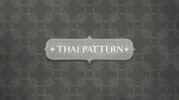 Traditional connecting flower Thai pattern vector