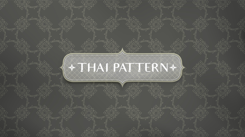 patrón tailandés tradicional flor de conexión