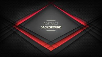 Futuristic digital black honeycomb texture with red neon light vector