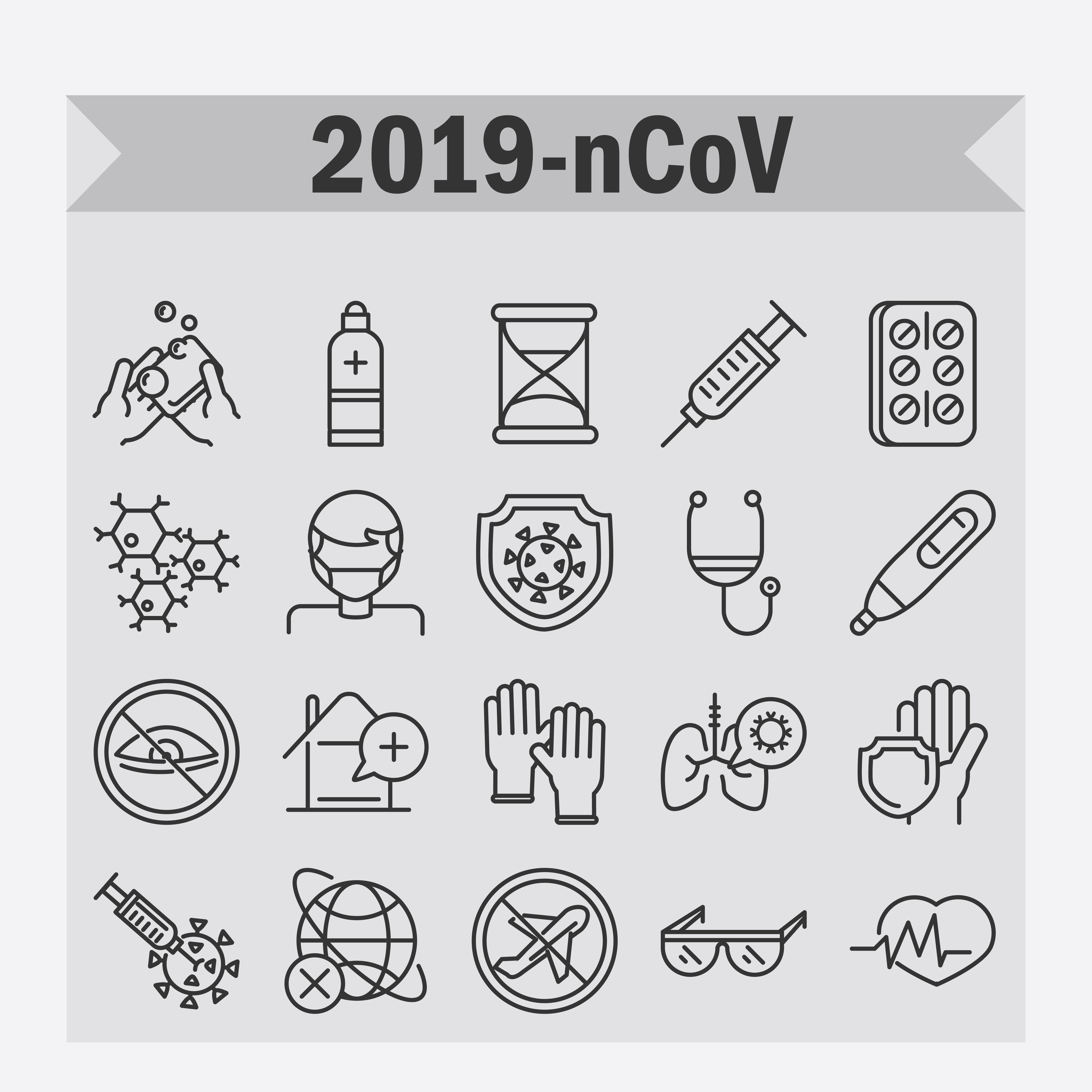 conjunto de iconos de covid-19 y coronavirus