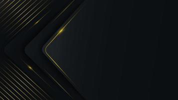 ABstract rounded triangle layers with golden lines