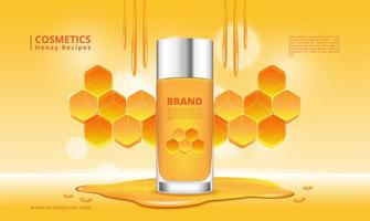 Honey cosmetics product and honeycomb design