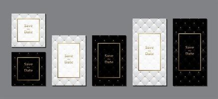 Wedding invitation card with frame for text message