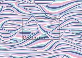 patrón de líneas de onda de color pastel abstracto