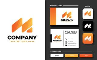 Creative initial M template and business card