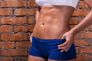 Woman with perfect abs.