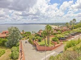 Panoramic View of Houses and Ocean