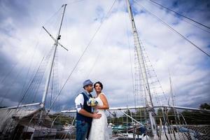 boda en yate foto