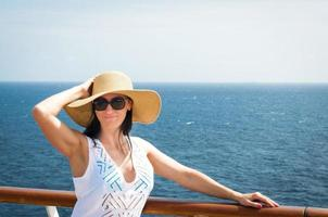 Lady on a cruise