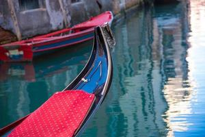 Traditional Venice gondolas