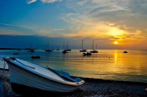 tramonto sul molo