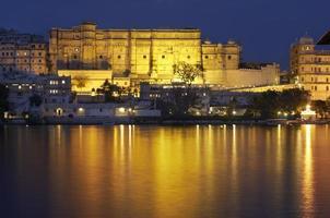 Udaipur Palace at night photo