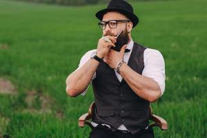 man care his beard photo