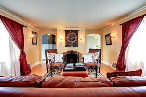 interior de la sala de estar de lujo foto