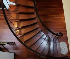 Elegant staircase in modern home photo