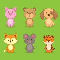 conjunto de personajes de animales vector