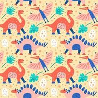 Dino Collection Pattern vector