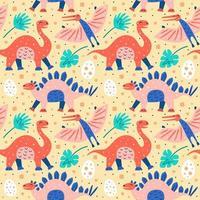 patrón de colección de dinosaurios