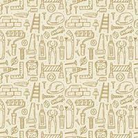 Home repair tools pattern vector