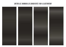 Dark Metallic Armadillo Gradients  vector