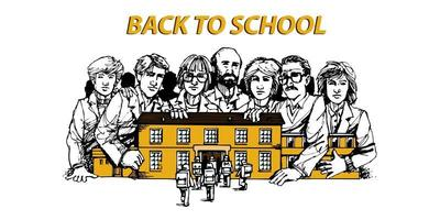 Back to school education knowledge concept