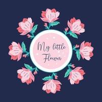 mi pequeña flor vector