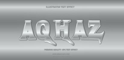 Estilo de texto 3D retro aqua haze vetor