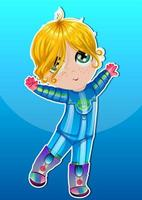 Child Astronaut in Blue Suit