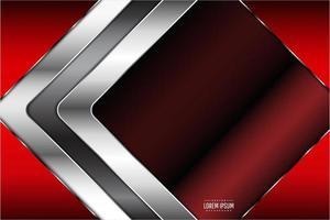 rojo, diseño de diamante metálico cromado
