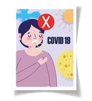 Coronavirus awareness poster template
