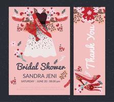 Bridal Shower Invitation Vol 2 Vector