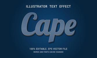 Gray Blue Pale Cape Text Effect vector