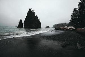 Monoliths in Olympic National Park, Washington