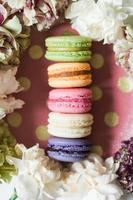 Five French macaroons