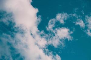 White clouds in the blue sky  photo