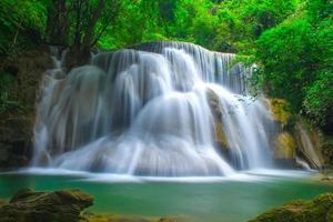 Beautiful waterfall in a rainforest photo