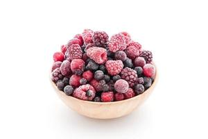 A bowl of frozen mixed berries