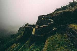 Inca monument on top of mountain