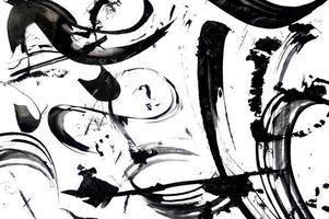 Black abstract brush strokes