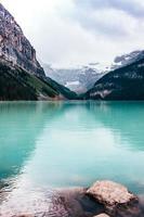 Green glacial lake  photo