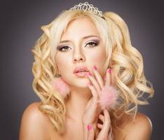 Blonde woman face