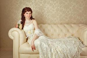 Lady in evening dress photo