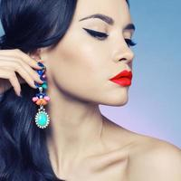 Lady with earring photo