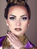 Portrait of beautiful woman in Egyptian style