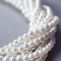 hebras retorcidas de perlas de nácar foto