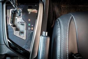 luxury modern gear shift in car photo
