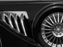 retro car detail photo