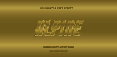 Metallic Alpine Text Style vector
