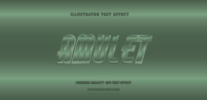 Metallic Amulet Text Style  vector