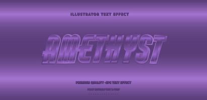 Shiny Metallic Amethyst Text Style vector